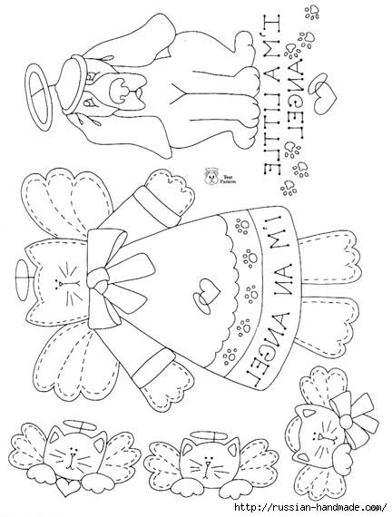трафареты ангелов (81) (432x570, 120Kb)