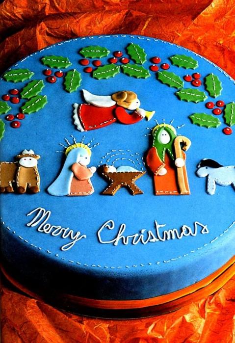 Торт на рождество картинки