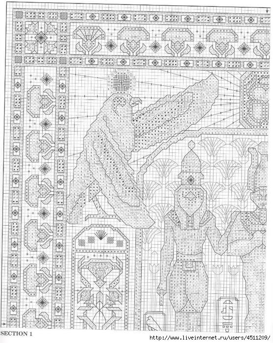 Египет. Вышивка крестом.
