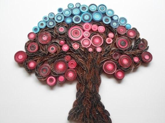 Квиллинг дерево своими руками