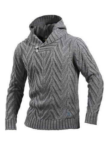 Вязание мужские кофты с капюшоном 1