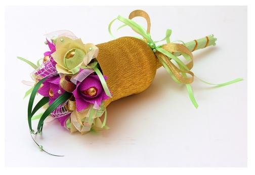Как из салфеток сделать букет цветов из