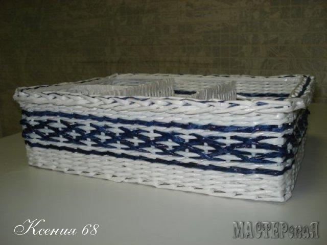 ПЛЕТЕНИЕ ИЗ ГАЗЕТ. Плетенка для специй с перегородками (1) (640x480, 121Kb)