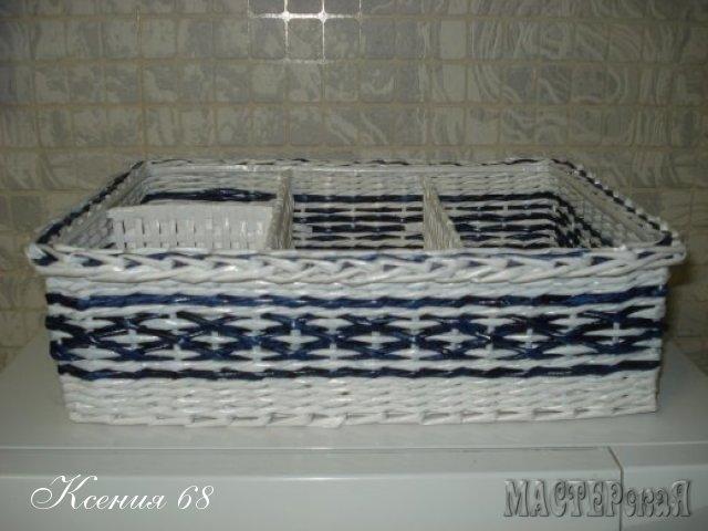 ПЛЕТЕНИЕ ИЗ ГАЗЕТ. Плетенка для специй с перегородками (8) (640x480, 134Kb)