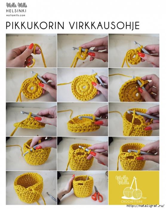 Пряжа для вязания корзинок крючком с описанием