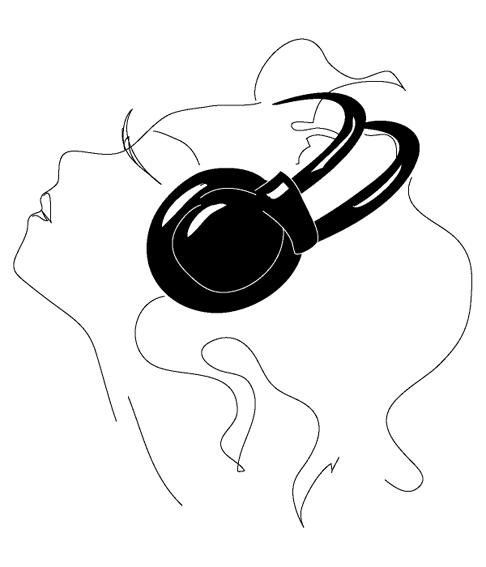 любимая музыка (486x567, 66Kb)