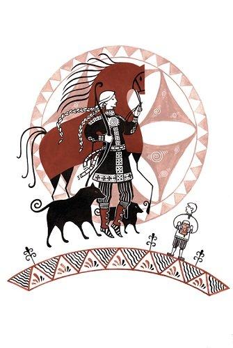 Девана и волки (335x500, 37Kb)