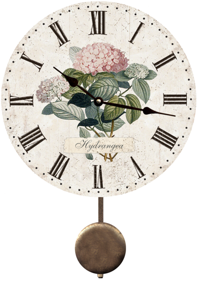 hydrangea-flower-wall-clock (400x568, 326Kb)