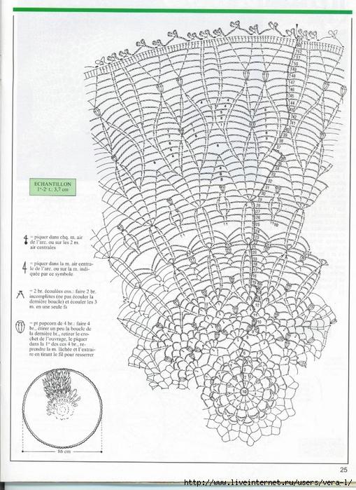 钩针桌布图解(78)