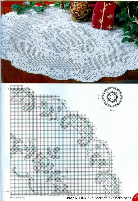 【转载】钩针桌布图解(67)