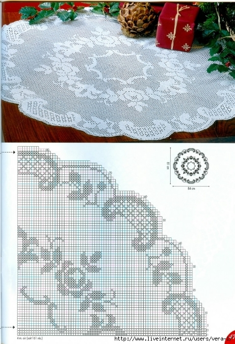 钩针桌布图解(67)