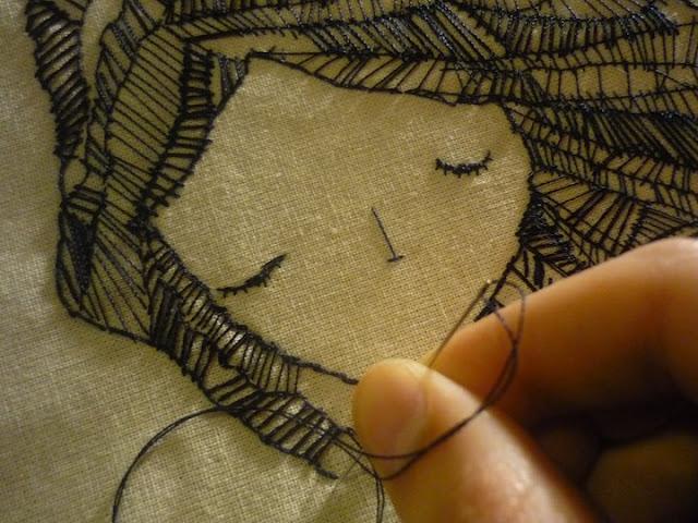 Вышивка нитками на ткани это