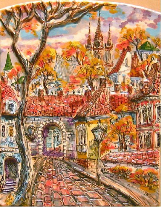 Антонова Еленаю Осень в старом городе (544x700, 110Kb)