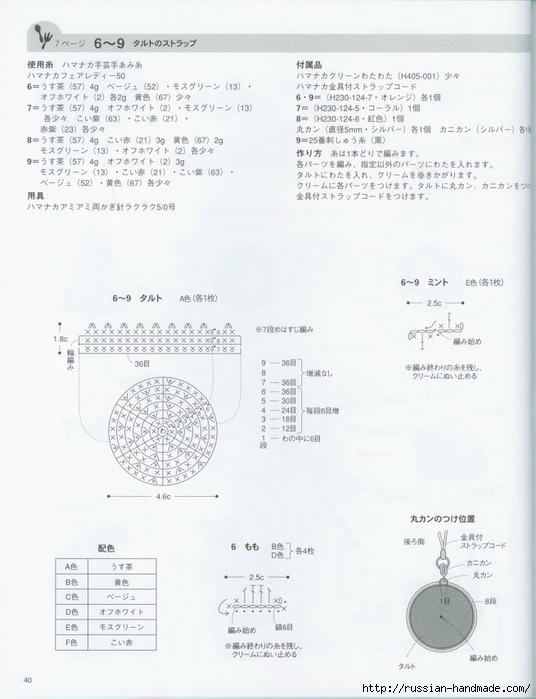 Вяжем крючком пирожные с десертом. Японская книжка со схемами (42) (536x700, 179Kb)