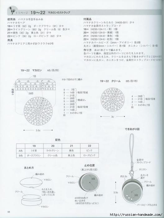Вяжем крючком пирожные с десертом. Японская книжка со схемами (50) (527x700, 183Kb)