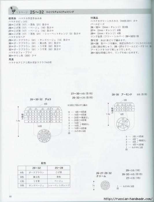 Вяжем крючком пирожные с десертом. Японская книжка со схемами (52) (533x700, 177Kb)