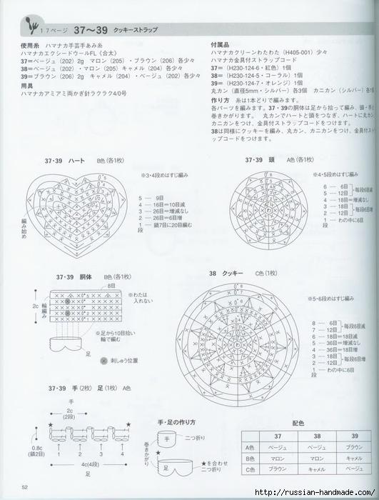 Вяжем крючком пирожные с десертом. Японская книжка со схемами (54) (531x700, 215Kb)