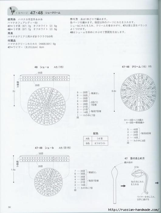 Вяжем крючком пирожные с десертом. Японская книжка со схемами (58) (530x700, 180Kb)