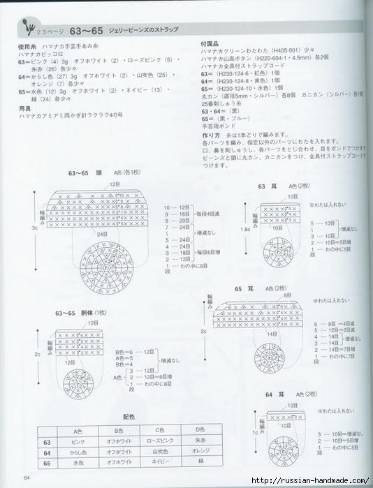 Вяжем крючком пирожные с десертом. Японская книжка со схемами (66) (534x700, 204Kb)