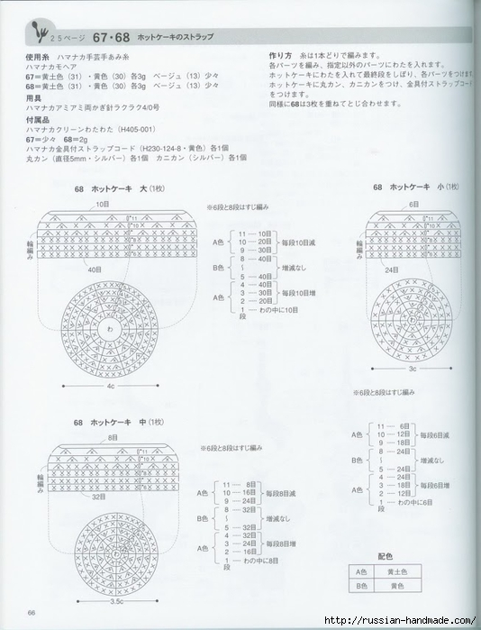 Вяжем крючком пирожные с десертом. Японская книжка со схемами (68) (534x700, 197Kb)