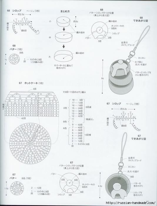 Вяжем крючком пирожные с десертом. Японская книжка со схемами (69) (534x700, 197Kb)