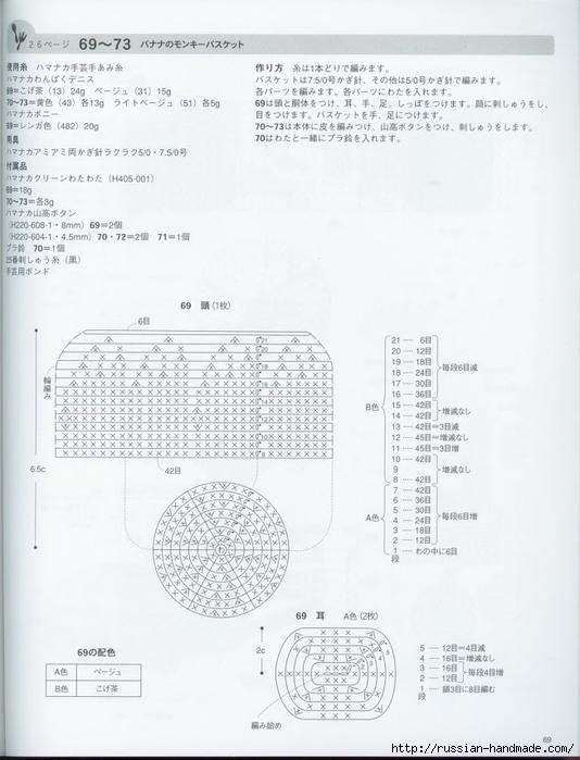 Вяжем крючком пирожные с десертом. Японская книжка со схемами (71) (534x700, 193Kb)