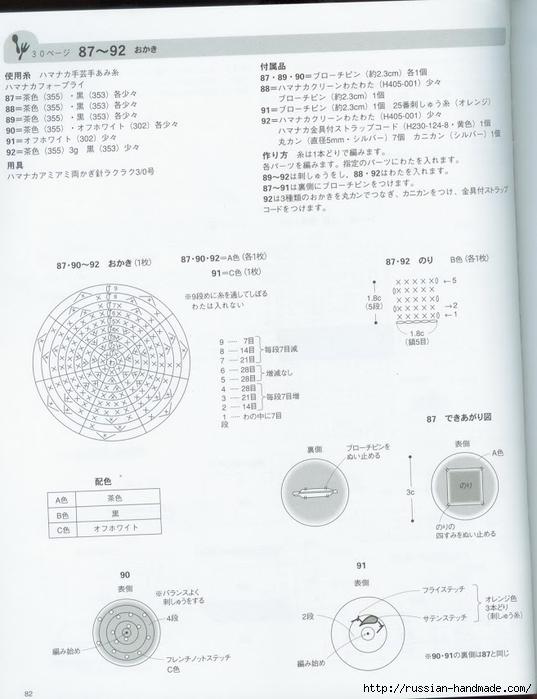 Вяжем крючком пирожные с десертом. Японская книжка со схемами (84) (537x700, 192Kb)