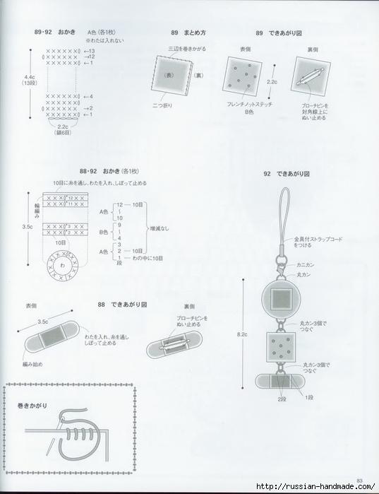 Вяжем крючком пирожные с десертом. Японская книжка со схемами (86) (537x700, 152Kb)