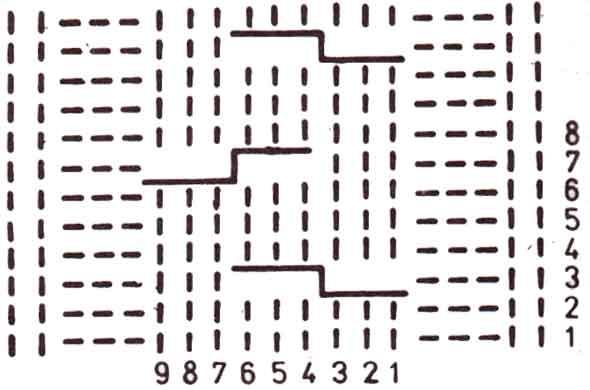 узор косы 9 петель спицами схема