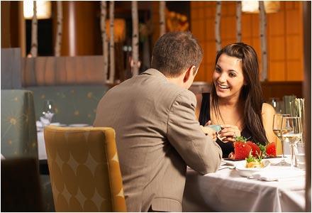 Первое свидание - сколько раз нужно заняться сексом до брака чтобы удачно выйти замуж жениться - парень и девушка в ресторане (440x300, 25Kb)