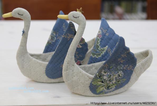 小天鹅,手工编织花样图案图解