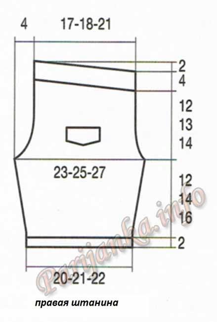 37 и 38 из 165, выкройка брюк (439x650, 66Kb)
