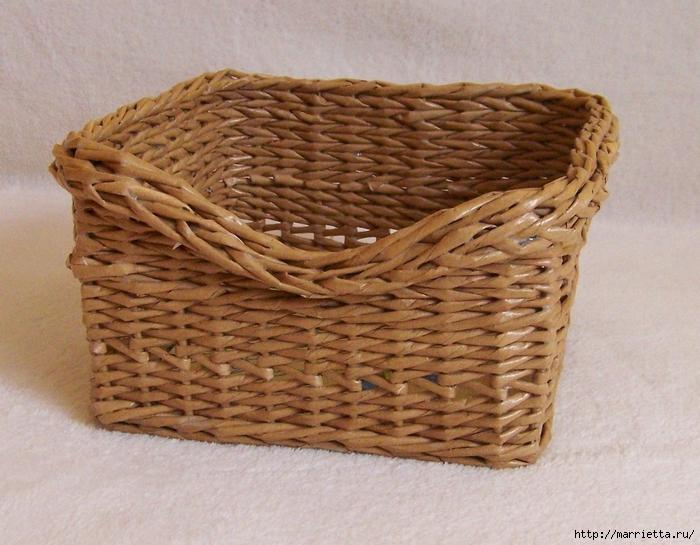 Плетение из газет. Идеи и мастер-класс на донышко плетенки (11) (700x545, 311Kb)