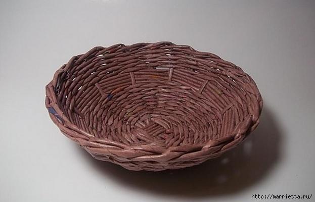 Плетение из газет. Идеи и мастер-класс на донышко плетенки (53) (623x400, 118Kb)