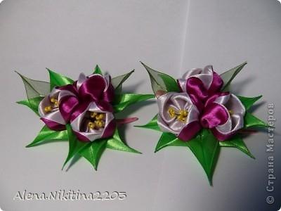 Цветочки из ленточек от Алены Никитиной (1) (400x300, 61Kb)