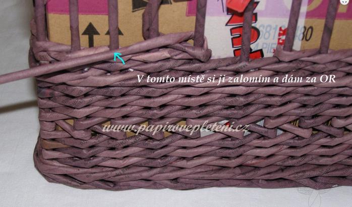 Плетение из газет. Мастер-класс по плетению скошенного верха корзинки (6) (700x410, 475Kb)