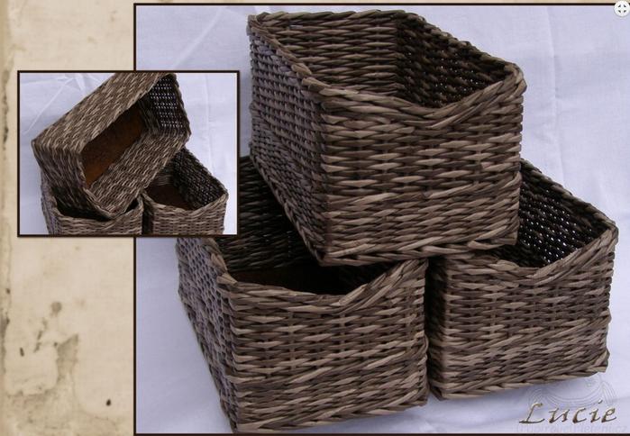 Плетение из газет. Мастер-класс по плетению скошенного верха корзинки (25) (700x484, 559Kb)