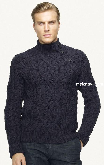 вязаный-пуловер-для-мужчин (444x700, 77Kb)