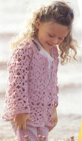 Жакетик крючком для маленькой девочки  (1) (340x581, 129Kb)