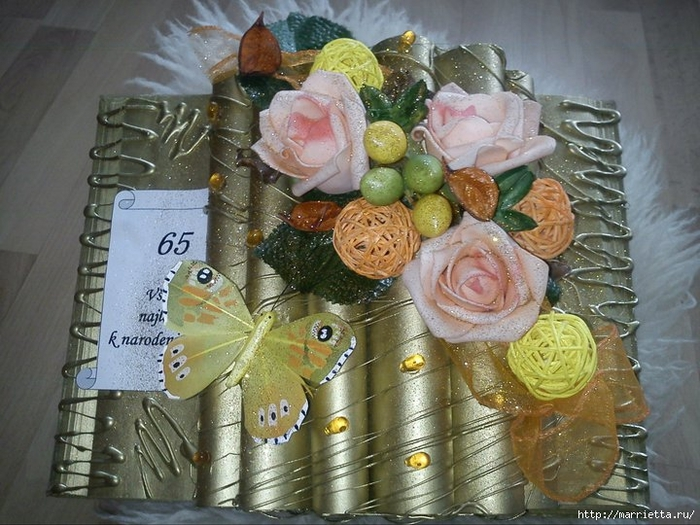 Cómo hacer un libro de decoración para un regalo.  Master Class (28) (700x525, 292Kb)
