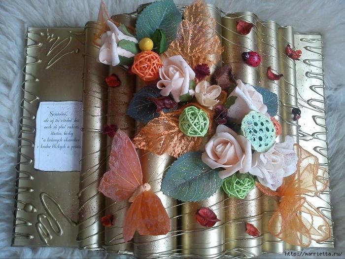 Как сделать декоративную книжку для подарка. Мастер-класс (31) (700x525, 311Kb)