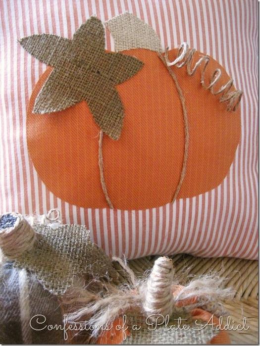 Текстильные тыквы и подушка с аппликацией для осеннего декора (10) (525x700, 310Kb)