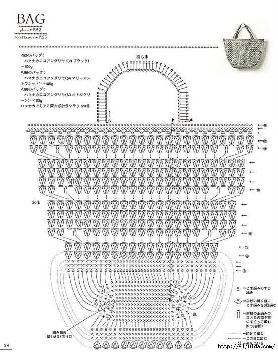 схема вязания сумочки из бисера