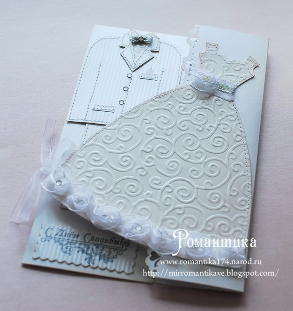 Как сделать открытку с платьем из газеты