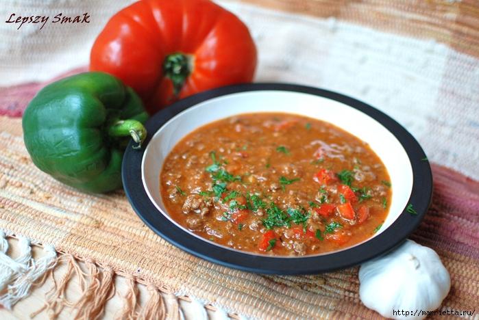 Рецепт мексиканского супа с фасолью и крутонами (2) (700x468, 299Kb)