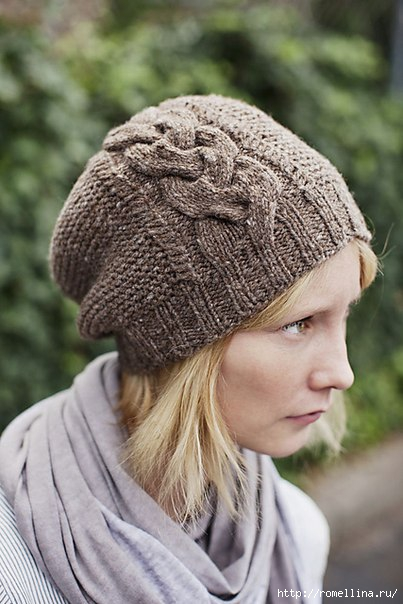 вязание шапочка спицами