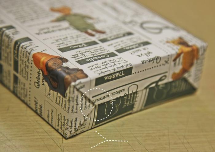 Как упаковать книжку или коробочку для подарка (10) (700x494, 423Kb)