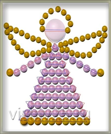 Схемы плетения ангелов из бисера.