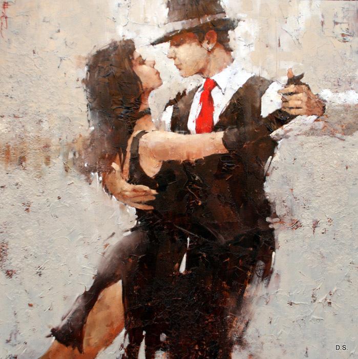 Любовь - словно танго вдвоём: Движения, взгляды - гармония, Где страсть обжигает огнем, А взгляд - ослепляет...