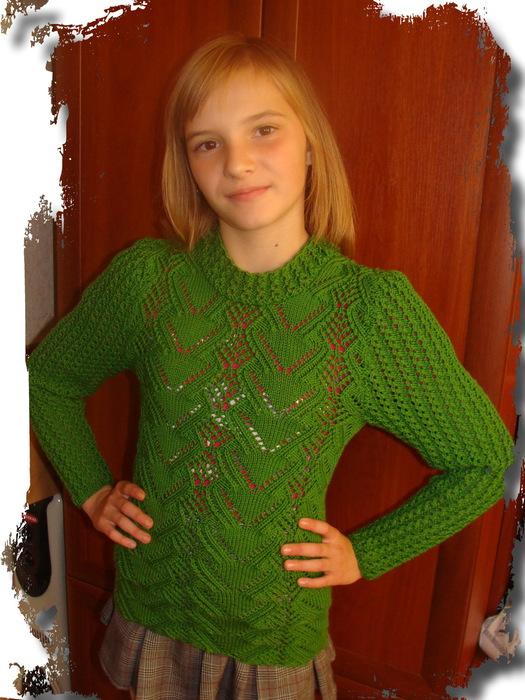 Зеленый джемпер (525x700, 147Kb)